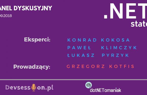 .NET State – panel dyskusyjny .NET Developer Days 2018